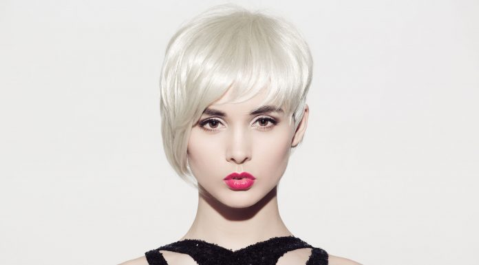 blond model with short hair