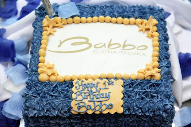 Babbo's first birthday cake